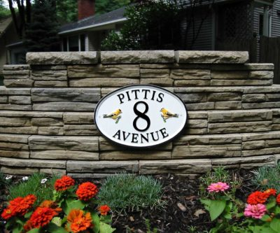 Oval 16 cast metal sign