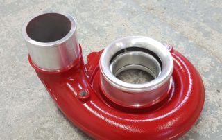 Turbo housing in fire engine red