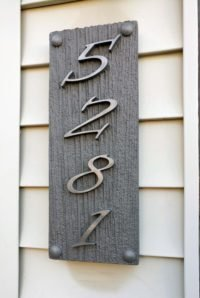cnc routed address plaque