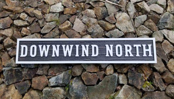 Carved HDU Sign