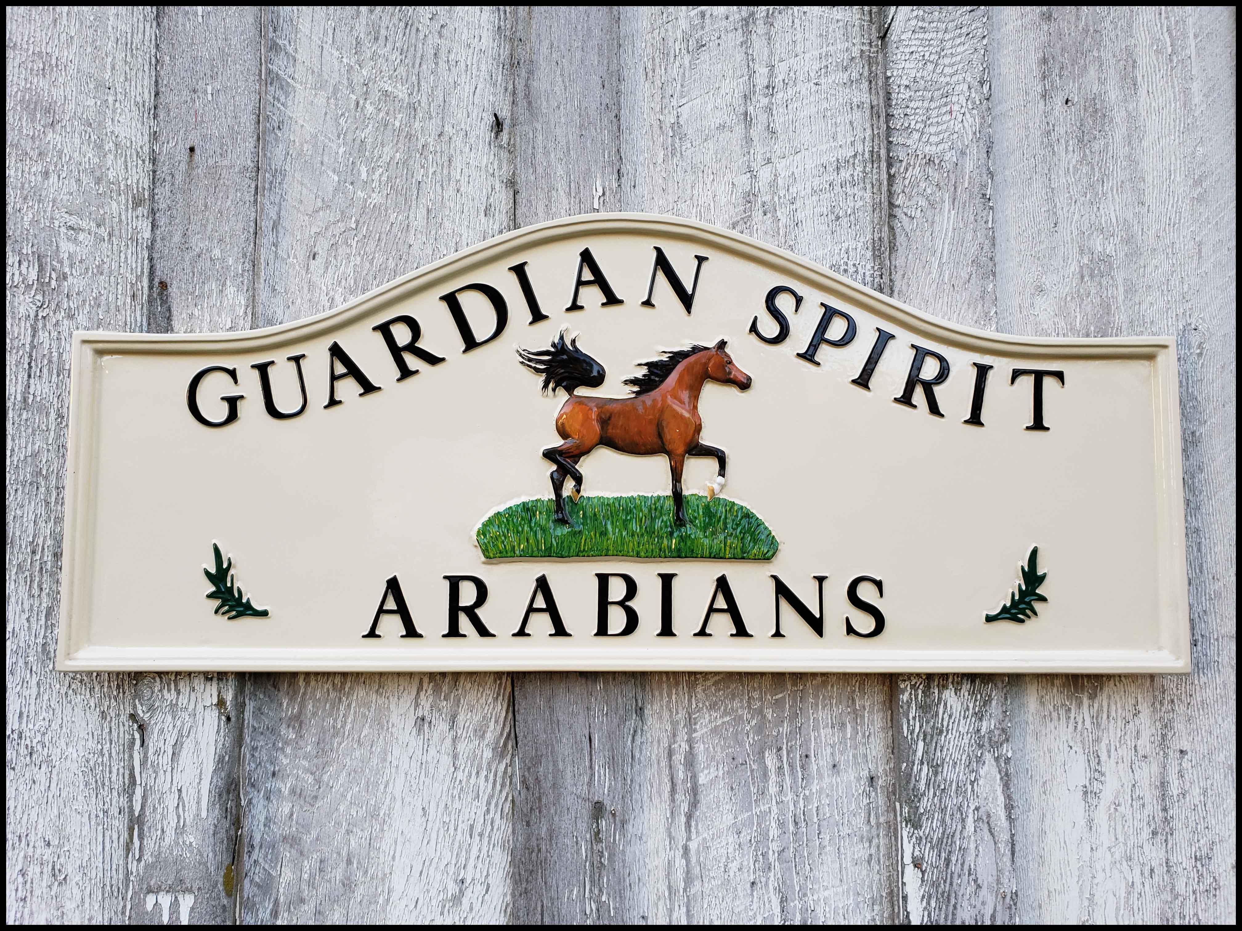 Cast Metal Equestrian Sign